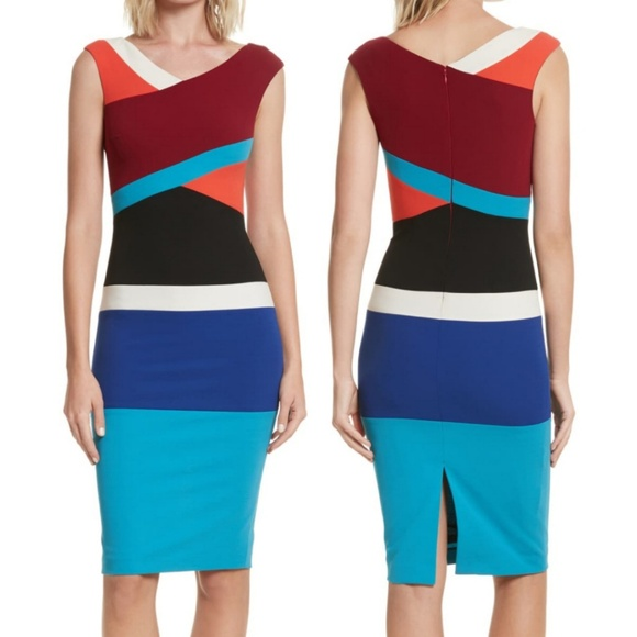 Anthropologie Dresses & Skirts - Anthro Tracy Reese Surplice Colorblock Dress